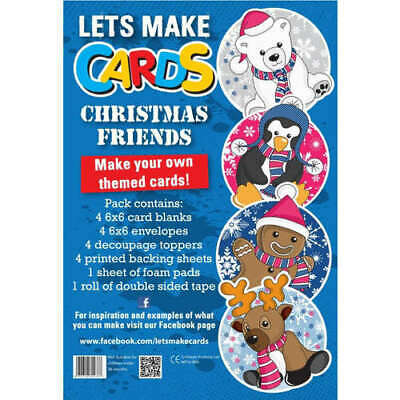 Children Christmas Friends Lets Make Cards Cut Create Decoupage Full Sealed Kit • 4.82£