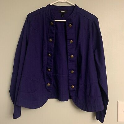AU19.39 • Buy Torrid Purple Military Jacket Size 0!!!!