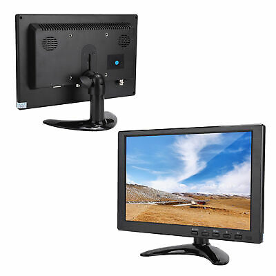 10.1  1080P HD LCD Monitor 1280x800 1920x1080 800:1 HDMI BNC USB VGA For PS4 PC • 32.84£