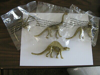 $9.99 • Buy Realistic Dinosaur Fossil Skeleton Figures Kids Toys Lot Of 4 Different