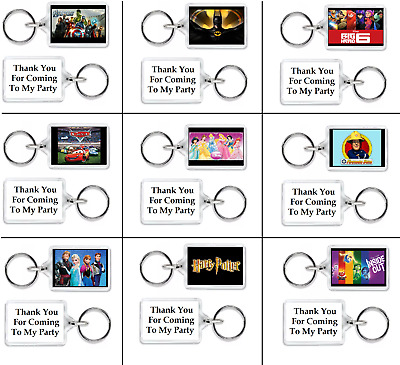 £5.99 • Buy 10 X FUNKY PERSONALISED KEYRINGS PARTY BAG FILLERS - GIFTS THEME T