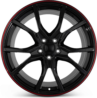 AU1096.62 • Buy 20 Wheels Black Red Rims Type R Style Fit Honda Accord Civic Sedan Coupe 5 Lug
