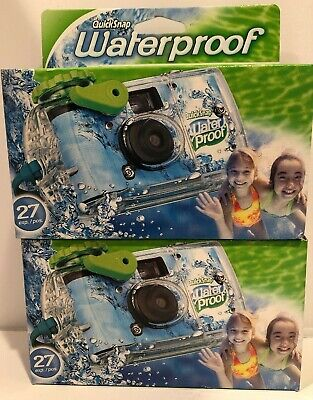 £16.32 • Buy 2 Disposable Cameras Quick Snap Waterproof Pool Underwater 35 MmFujiFilm 09/2020