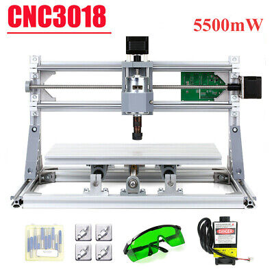 CNC3018 CNC Router Kit Laser Engraving Machine DIY GRBL Control 3Axis Wood • 128.99£