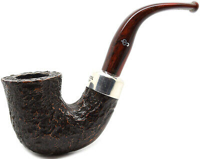 AU132.10 • Buy Peterson 2019 9mm Filter Christmas Pipe Silver Mounted Rustic Bent Dublin (05)