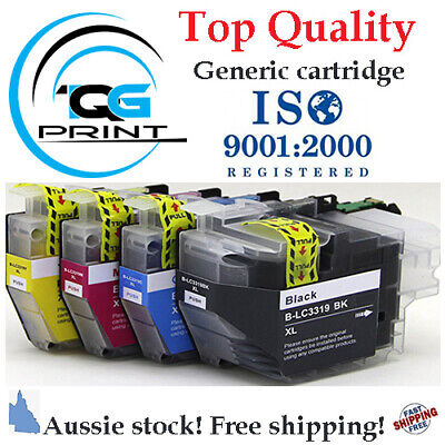 AU31.05 • Buy High Yield Ink Cartridge Compatible With Brother LC 3319 XL BK/C/M/Y
