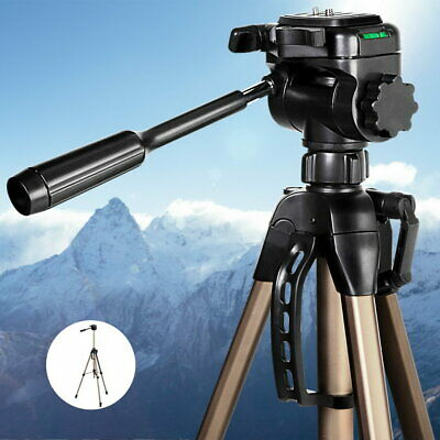 AU37.95 • Buy NEW 160cm Tall (Max) Lightweight Aluminium Frame Dual Bubble Level Camera Tripod