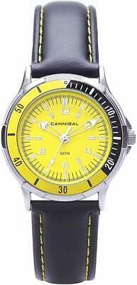 Cannibal Unisex Quartz Watch With Yellow Dial Analogue Display And Black Plastic • 35.28£