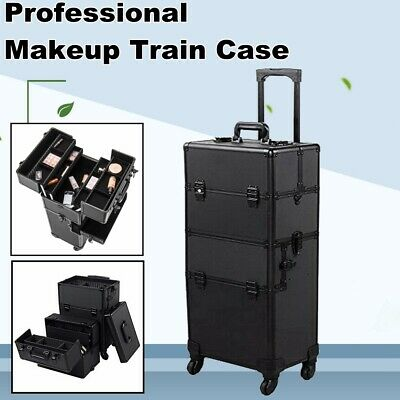 $87.74 • Buy Professional Makeup Travel Train Case Rolling Makeup Cosmetic Box With Wheels