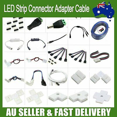 AU10.88 • Buy LED Strip Connector Adapter Cable PCB Clip Solderless 3528 5050 5630 3014 RGB AU