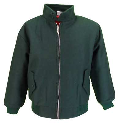 Heavy Duty Dark Green Wool Harrington Jacket`s • 36.99£