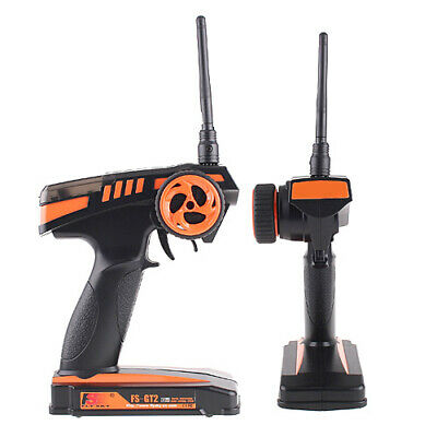 Best Flysky FS-GT2 2.4G 2CH Radio Model RC Transmitter & Receiver UK Shipping • 19.99£