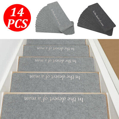 £17.09 • Buy 14X Stair Tread Carpet Mats Step Staircase Non Slip Mat Protection Cover Pads UK
