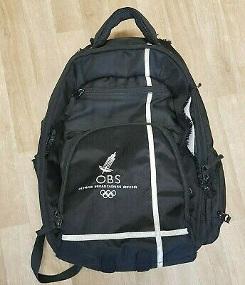LONDON 2012 Olympic Broadcast Service (OBS) Backpack (USED) VERY RARE FIND • 15.99£