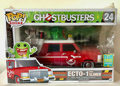 Funko POP SDCC 2016 Limited Edition GHOSTBUSTERS - RED ECTO-1 W/ SLIMER #24 NEW • 38.57£