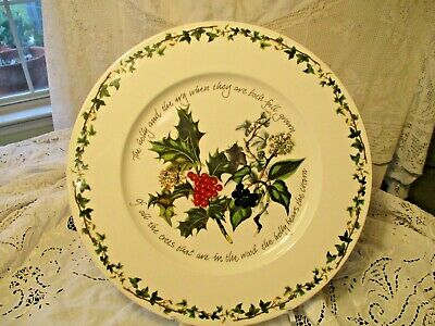 Portmeirion - Holly & Ivy Large Serving Platter  - 13  Old 1998 Mark - Mint Cond • 24.99$