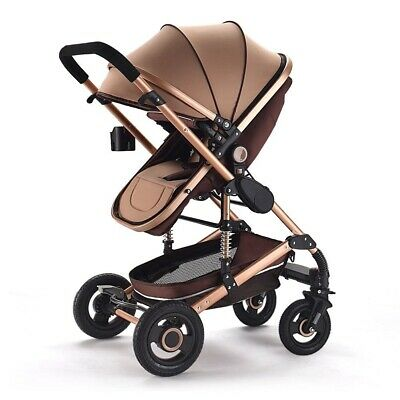 AU320 • Buy 2 In1 Baby Infant Stroller Pram Carriage Foldable Travel ( Khaki Colour Only )