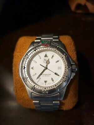 TAG Heuer Professional WL1113 White Stainless Quartz Men's Watch Used • 275$