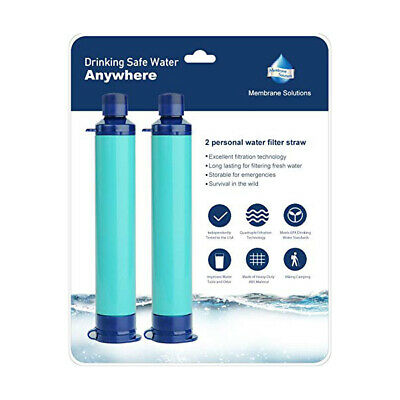 $22.99 • Buy 2pcs 4-Stage Portable Personal Water Filter Straw Purifier Camping Survival Tool