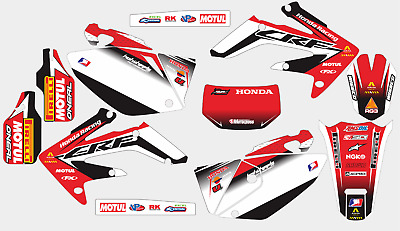 $81.54 • Buy 171107 Honda Crf 250 X 2004-2016 Decal Sticker Graphic Kit
