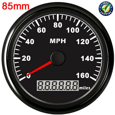 $53.34 • Buy 85mm GPS Speedometer 0-160MPH Odometer Gauge For Auto Boat Car Truck Motorcycle