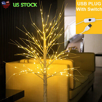$26.75 • Buy LED Light Up Pre Lit Birch Twig Tree Indoor Home Christmas Party Decoration USB