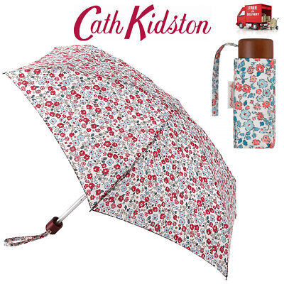 Cath Kidston Dulwich Ditsy Tiny Flat Folding Umbrella Handbag Size With Cover • 20.99£