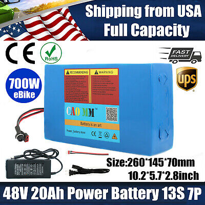$228.92 • Buy EBike Li-ion Battery 48V20AH 700W Scooter Electric Bicycle Motor BMS Charger US