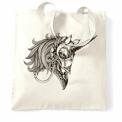 £7.22 • Buy Gothic Art Tote Bag Armoured Unicorn Graphic Rock Emo Goth Punk Metal Cool