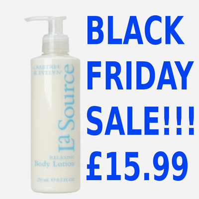 CRABTREE & EVELYN La Source Relaxing Body Lotion 250ml ~ Black Friday Sale! NEW • 15.99£