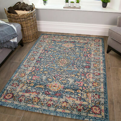 £49.95 • Buy Colourful Traditional Rug   Distressed Mats   Kilim Rugs For Living Room   CHEAP