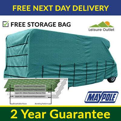 Maypole Premier Motorhome Cover - 6.5m To 7.0m – 4 Ply Breathable & Waterproof • 134.99£