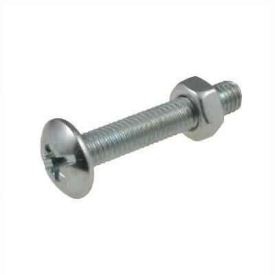 AU7 • Buy M5 M6 Metric Mushroom Head Phillips / Slot Roofing Bolt & Nut Screw Zinc Plated