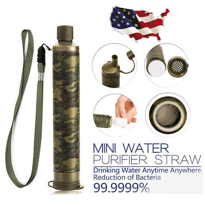 $11.99 • Buy Portable Water Filter Straw Purifier Camping Emergency Gear Supply Survival Tool