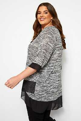 AU37 • Buy Yours Clothing Womens Plus Size Double Layer Top