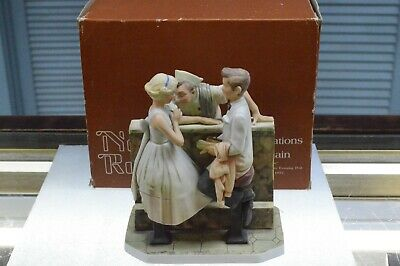 "$ CDN27.57 • Buy Norman Rockwell Figurine Gorham ""After The Prom"" Saturday Evening Post Cover '57"