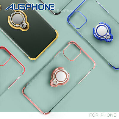 AU6.99 • Buy IPhone 11 Pro XS Max XR X Shockproof Ring Holder Soft Slim Case Cover For Apple