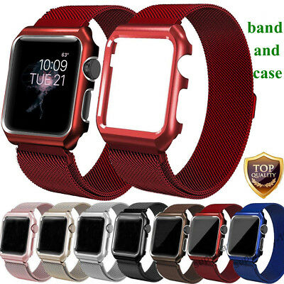 AU11.99 • Buy For Apple Watch Series 5 4 3 2 Magnetic Milanese Stainless Band Strap+Case Frame