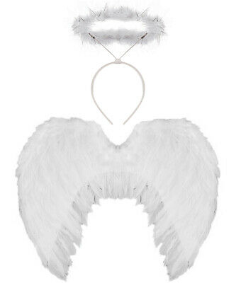 £6.99 • Buy Angel Fancy Dress Wings Halo Costume Womens Christmas Outfit Choose Accessory