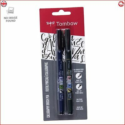 Tombow 62038 Fudenosuke Brush Pen 2 Pens Set • 7.71£