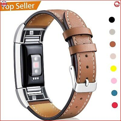 AU27.05 • Buy Fitbit Charge 2 Replacement Band Genuine Calf Leather Strap Classic Adjustable