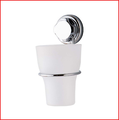 Compactor Bestlock Suction No Drilling Wall Mountable Toothbrush Holder With Cup • 8.49£