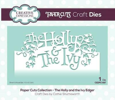 Creative Expressions Paper Cuts Collection -- The Holly And The Ivy Craft Die • 5£