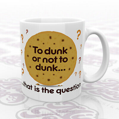 £9.99 • Buy Slogan/quote Mug, 'To Dunk Or Not To Dunk', 11oz. Coffee/Tea