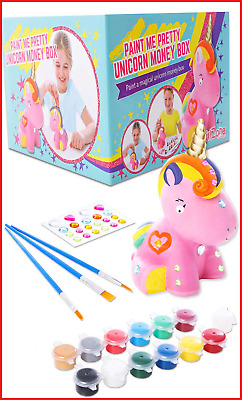 Unicorn Gifts For Girls - Paint Your Own Unicorn Money Box, Arts And Crafts For • 14.97£