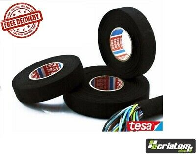 TESA TAPE 51608 CABLE ROLL ADHESIVE CLOTH FABRIC WIRING LOOM HARNESS 19mm X 25m • 33.88£
