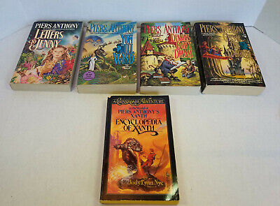 Piers Anthony - Xanth - 4 Book Collection, Letters To Jenny, Yon Ill Wild, Plus • 24.99$