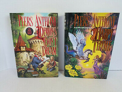 Piers Anthony - Xanth - Demons Don't Dream, Harpy Thyme - First Editions • 24.99$