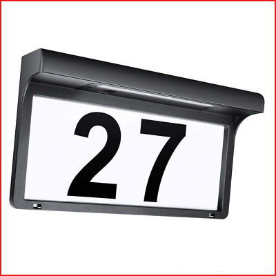 LeiDrail Solar House Number Plaques Illuminated Door Numbers Signs Modern Custom • 39.54£