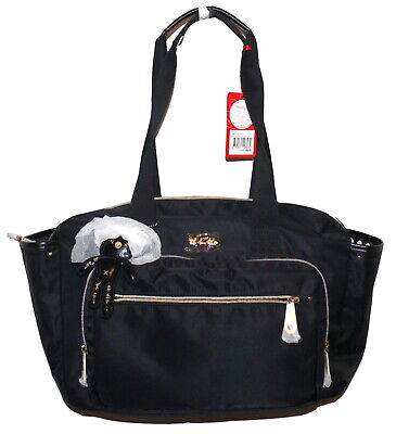 Il Tutto Evie Baby Bag Black Vinyl Tote Missing Long Strap NWT SP £109 • 45£